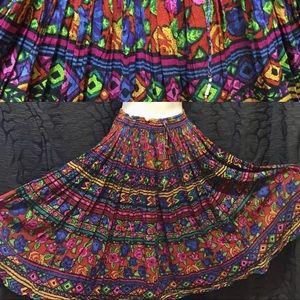 Vintage 90s Boho gypsy free size skirt